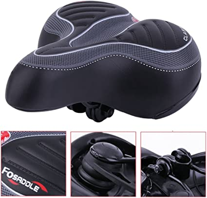 Comfort Wide Big Bum Soft Gel Cruiser Bike Saddle Bicycle Seat Air Cushion PadAA