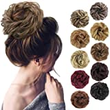 MORICA 1PCS Messy Hair Bun Hair Scrunchies Extension Curly Wavy Messy Synthetic Chignon for Women Updo Hairpiece …