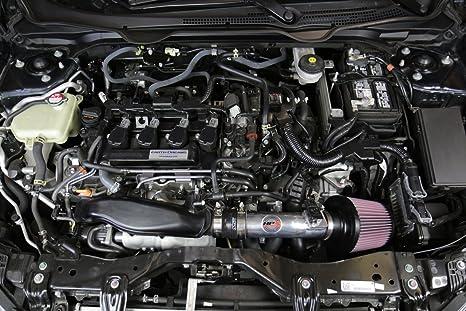 Amazon.com: 16-17 Honda Civic 1.5T Turbo 10th Gen HPS Polish Cold Air Intake Kit (Converts to Shortram) (Polish): Automotive