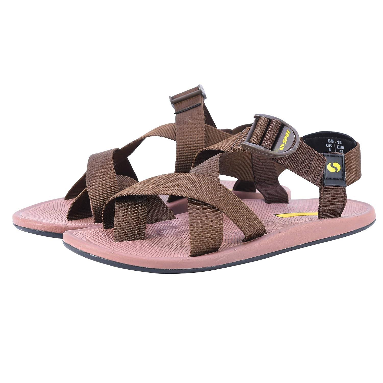 Spot Webbing Mens Casual Sandals SS-15 Brown
