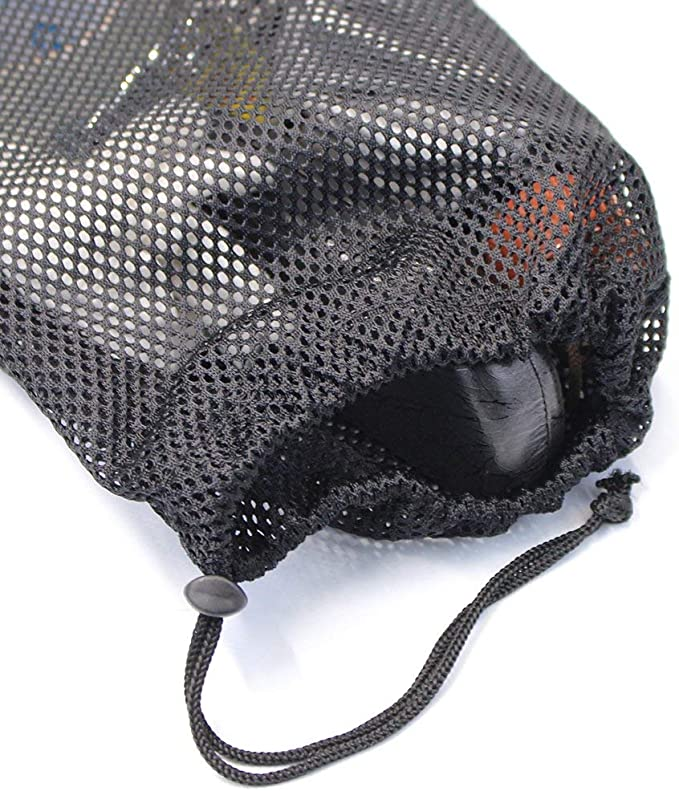 KisSealed 5 PCS Multi Purpose Nylon Mesh Drawstring Storage Ditty Bags for Travel,Sports /& Outdoor Activity