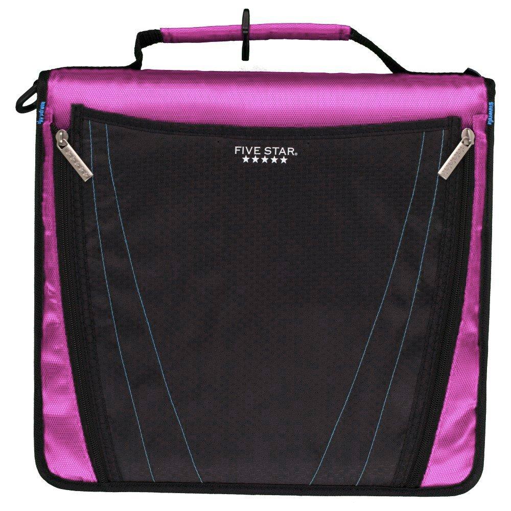 Five Star 2 Inch Zipper Binder, Expanding Pocket, Durable, Purple (73303)
