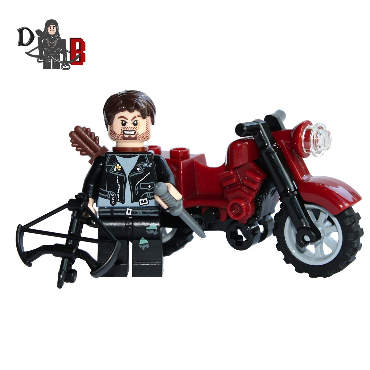 Walking dead lego daryl the walking - Amazon Com Custom The Walking Dead Daryl Dixon With Motorbike And Custom Made Crossbow Toys Games