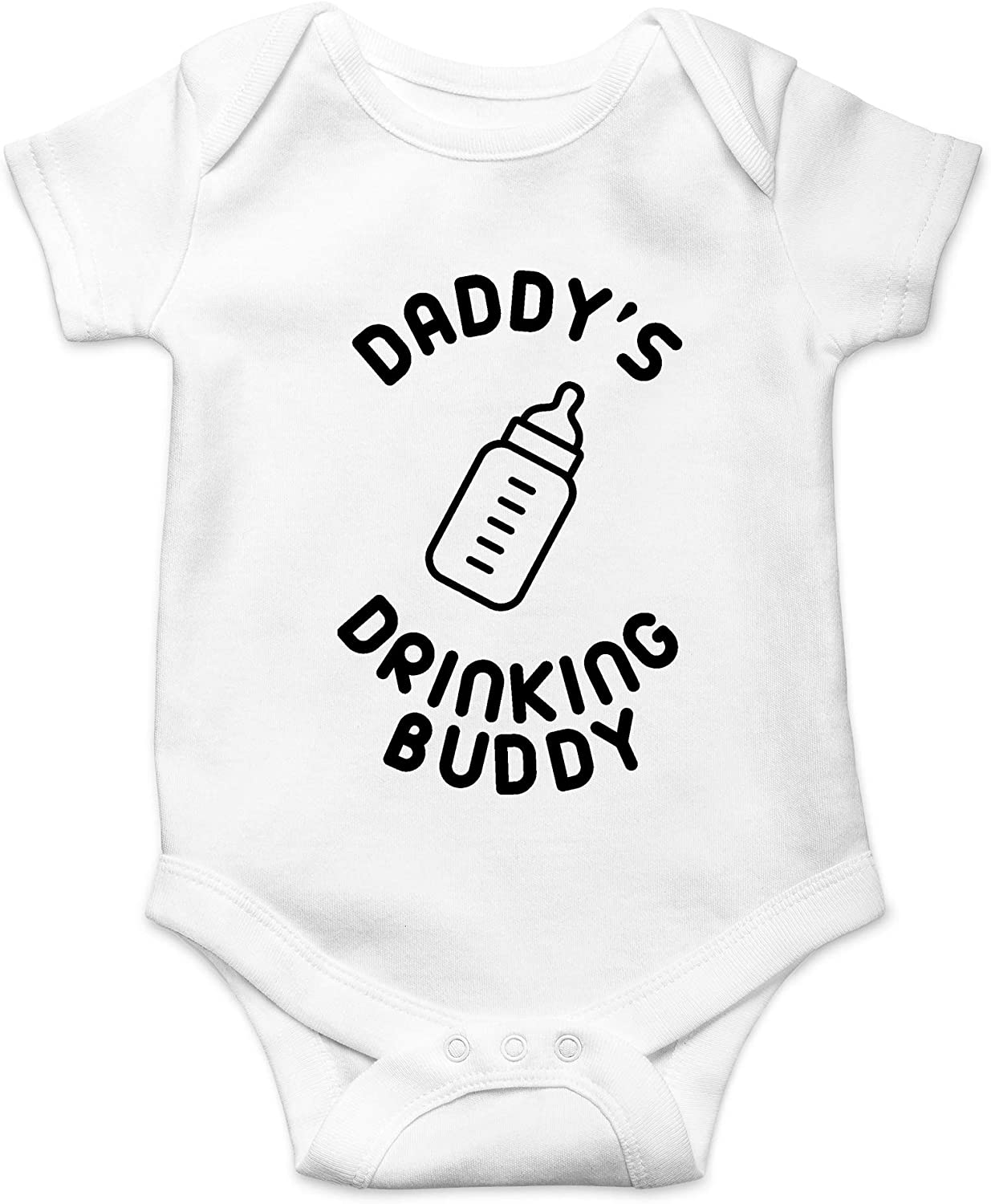 Crazy Bros Tee's Daddy's Drinking Buddy Funny Cute Novelty Infant One-Piece Baby Bodysuit