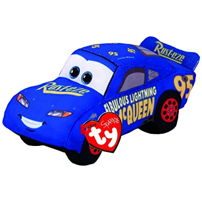 Ty Cars 3 Fabulous Lightning McQueen Plush Toy, Blue: Toys & Games