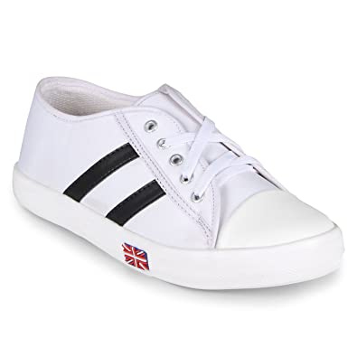 Bella Toes Women White Colour Fabric Casual Shoes Buy Online At Low
