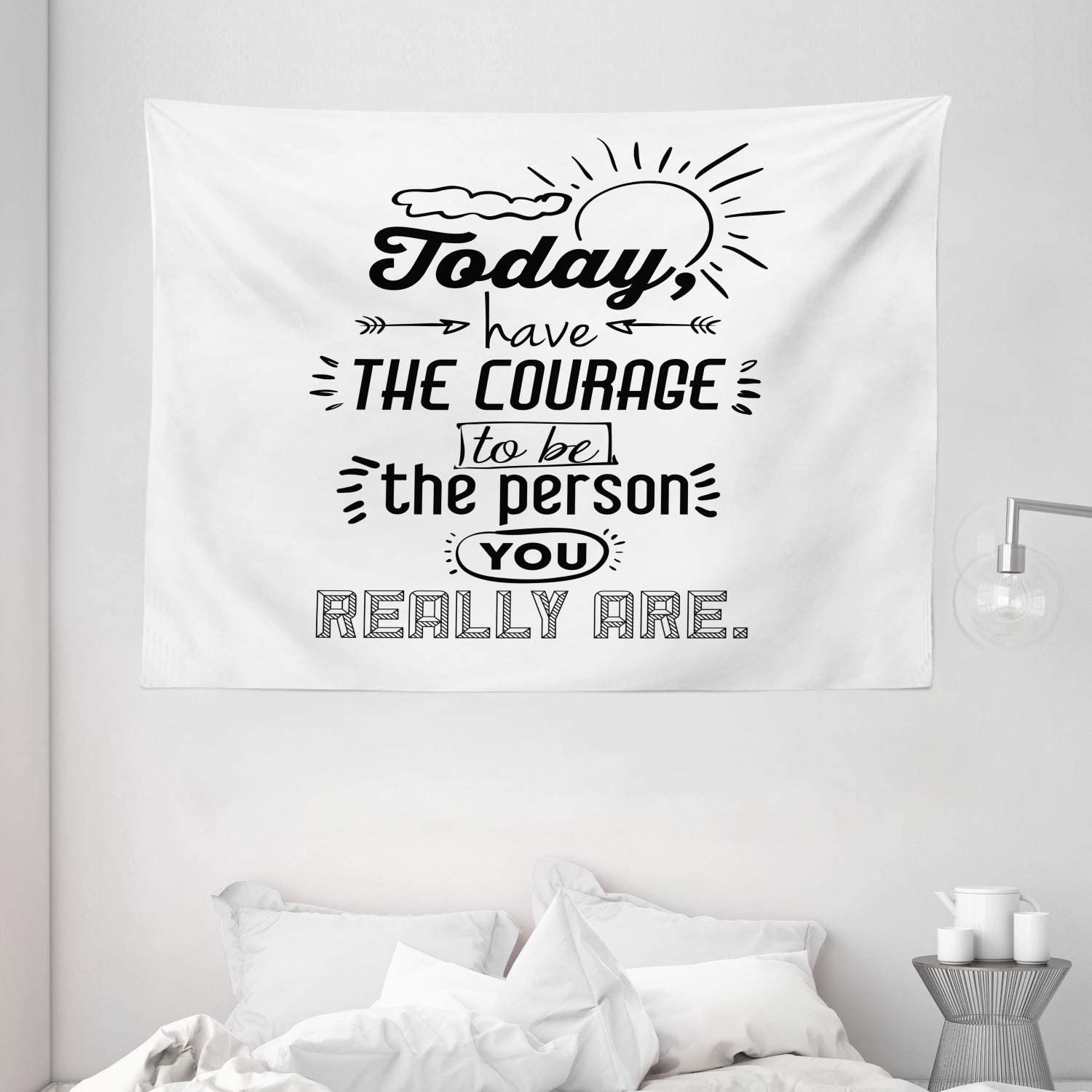 Motivational Quote Tapestry Wall Hanging Inspirational Sayings Tapestries Decor College Dorm Living Room Art Gift Bedroom Dormitory Bedspread Small Medium Large Printed in the USA