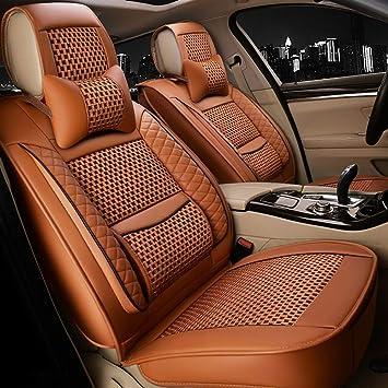 Mitsubishi Colt /& Mirage Leather Steering Wheel Cover Brown Orange Blue /& White