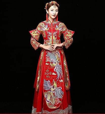 DHG Vestido de Boda Chino Nupcial Vestido de Novia Vestido de Boda Traje de Novia Vestido
