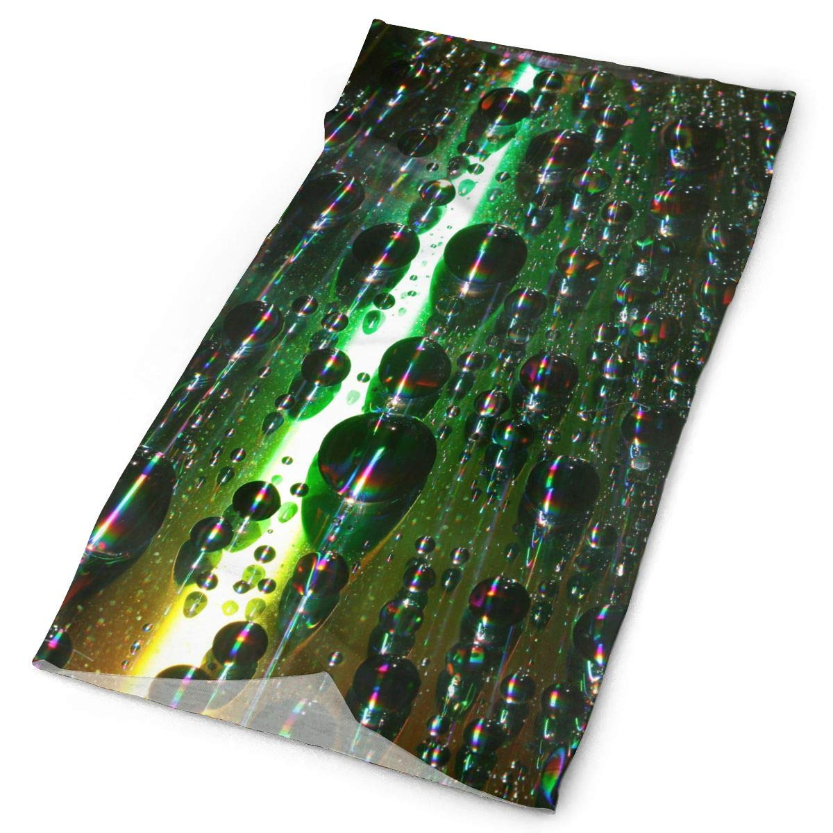 Green Bubble Iridescent Raster Unisex Fashion Quick-Drying Microfiber Headdress Outdoor Magic Scarf Neck Neck Scarf Hooded Scarf Super Soft Handle