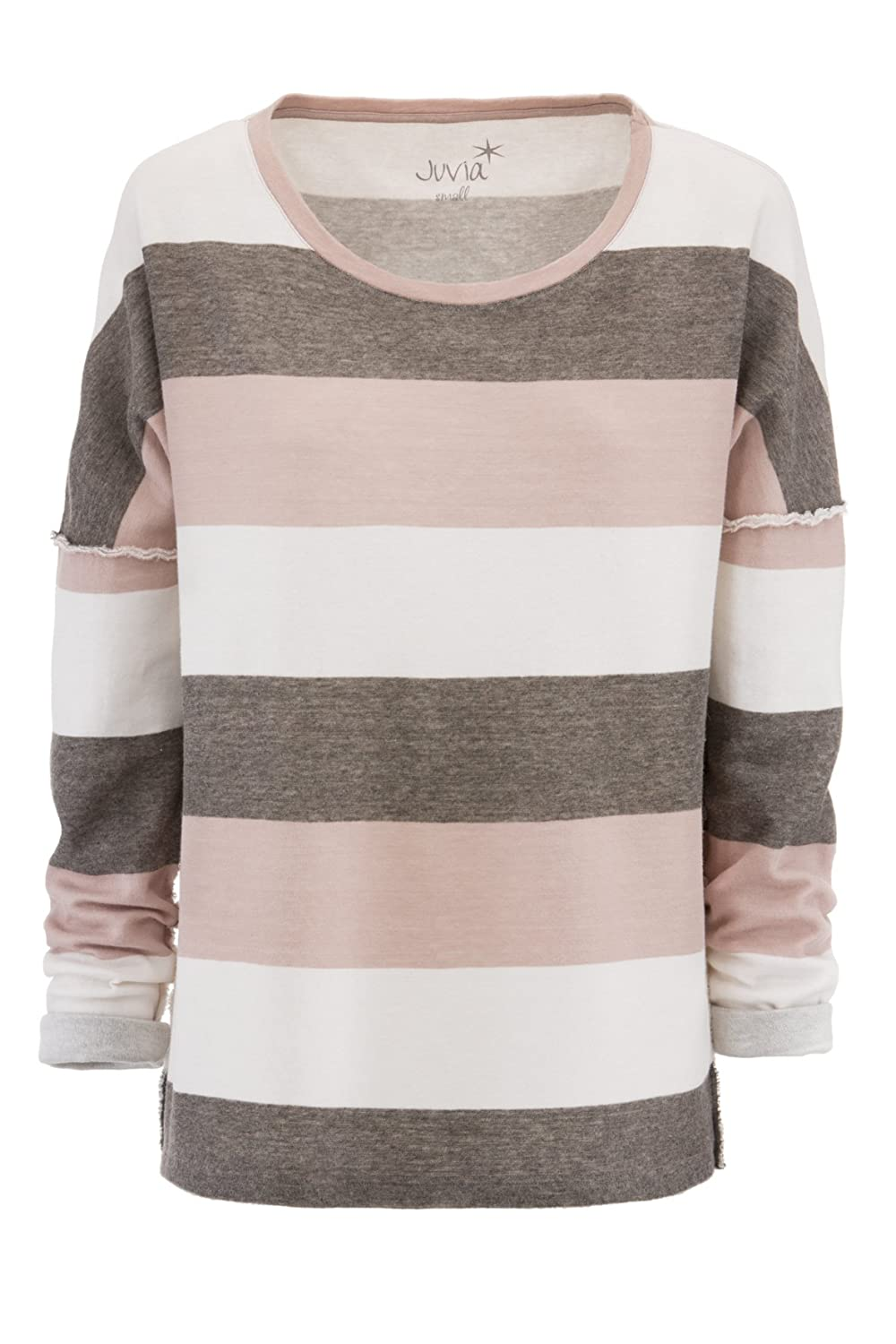 Juvia Sweater mauve Blockstreifen