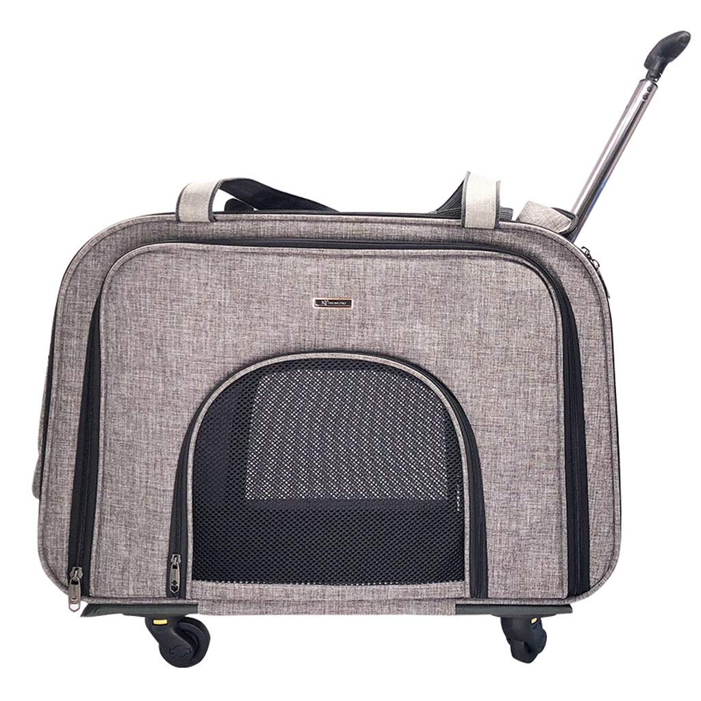 B NYJ Pet Adjustable Wheelchair Dog Travel Trolley Case Pet Portable Out Cart Multipurpose Folding Box (color   B)
