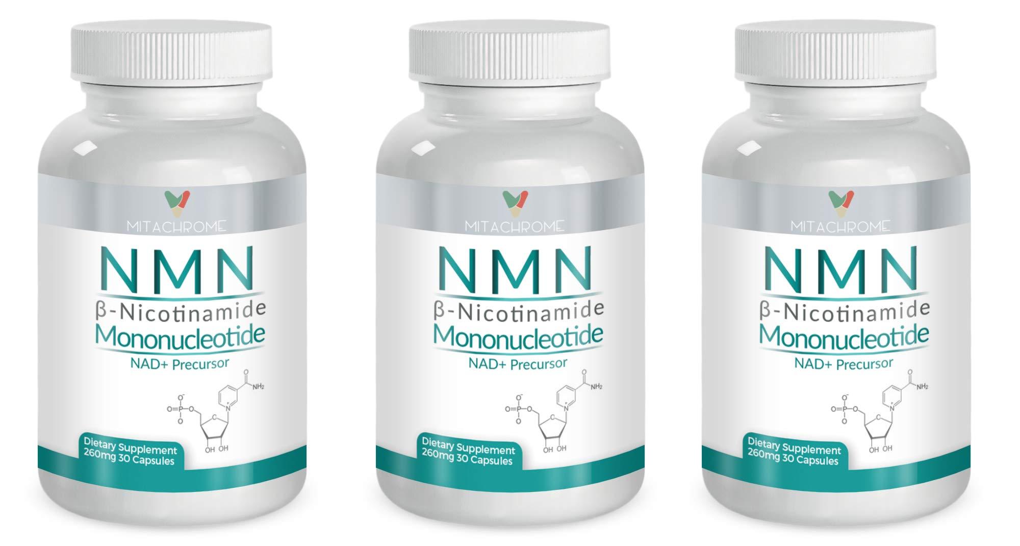 (NNM) β- Nicotinamide Mononucleotide 125mg's + 80mg's Resveratrol + 50mg 's Tumeric Root W/Bioperine