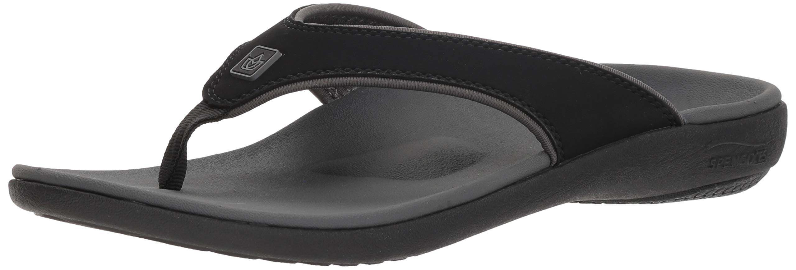 Spenco Men's Yumi Plus Sandal Sandal, Carbon/Pewter, 8 Wide US