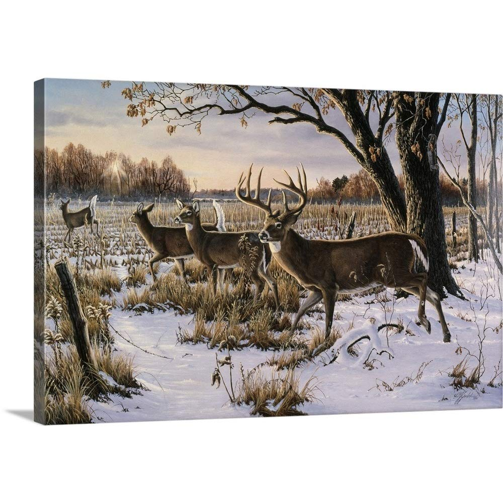 Wilhelm Goebelプレミアムシックラップキャンバス壁アート印刷題名Cautious渡れ –  48