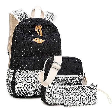 Wasserdichter Segeltuch-Rucksack-Laptop-Beutel-leichter Beiläufiger Schulrucksack-Rucksack Für Jugendlich Mädchen (1 Stück Um