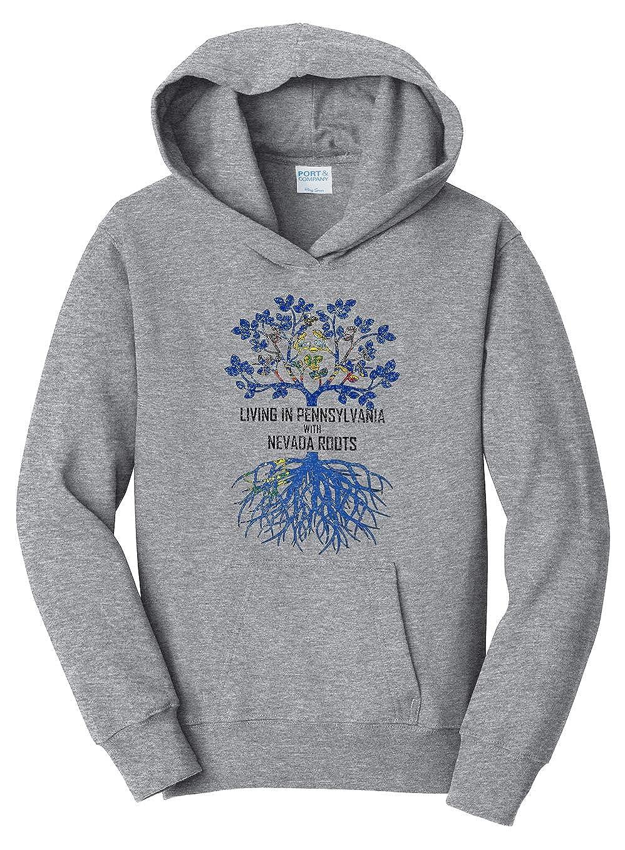 Tenacitee Girls Living in Pennsylvania with Nevada Roots Hooded Sweatshirt