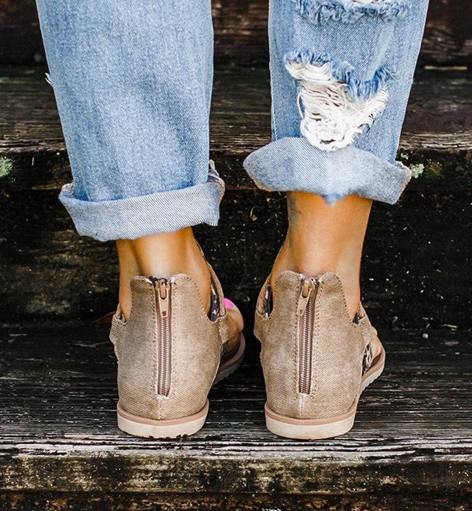 Ecolley Fashion Sandals for Women 2020 Black Summer Flat Sandals Stylish Flip Flop Comfortable Size 37