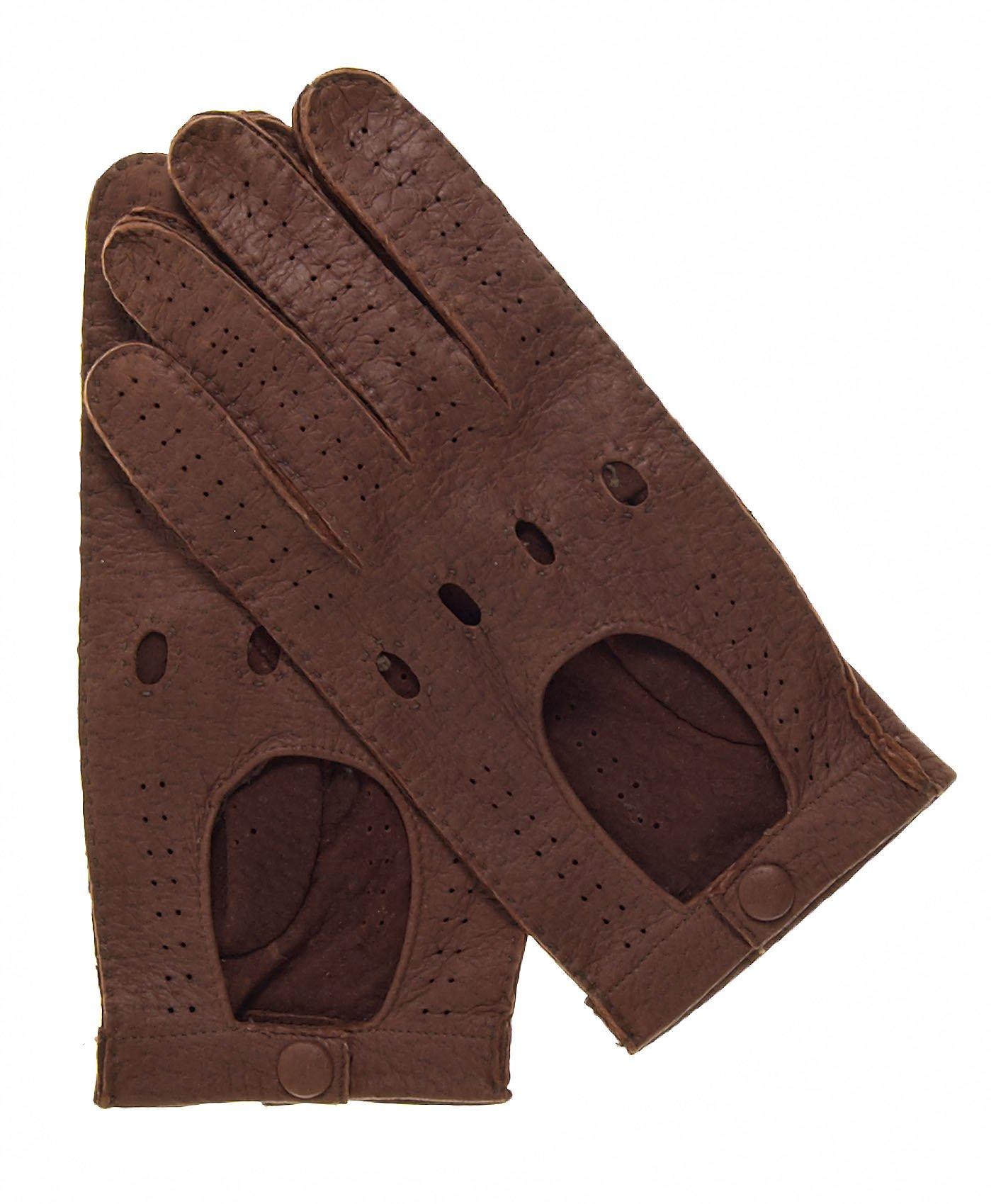 Fratelli Orsini Men's Handsewn Italian Peccary Driving Gloves Size 9 Color Cork
