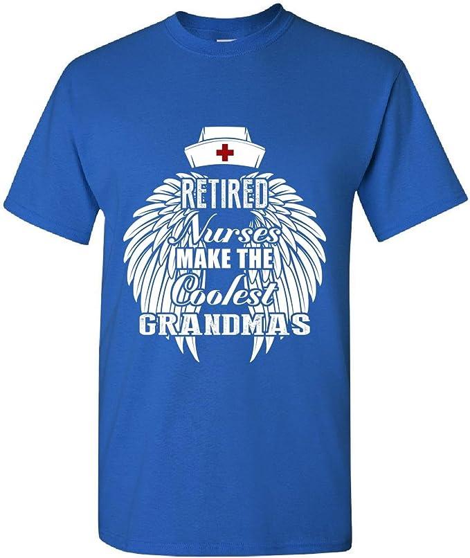 Jubilado enfermeras abuelas enfermera abuela abuela – adultos camiseta: Amazon.es: Ropa y accesorios