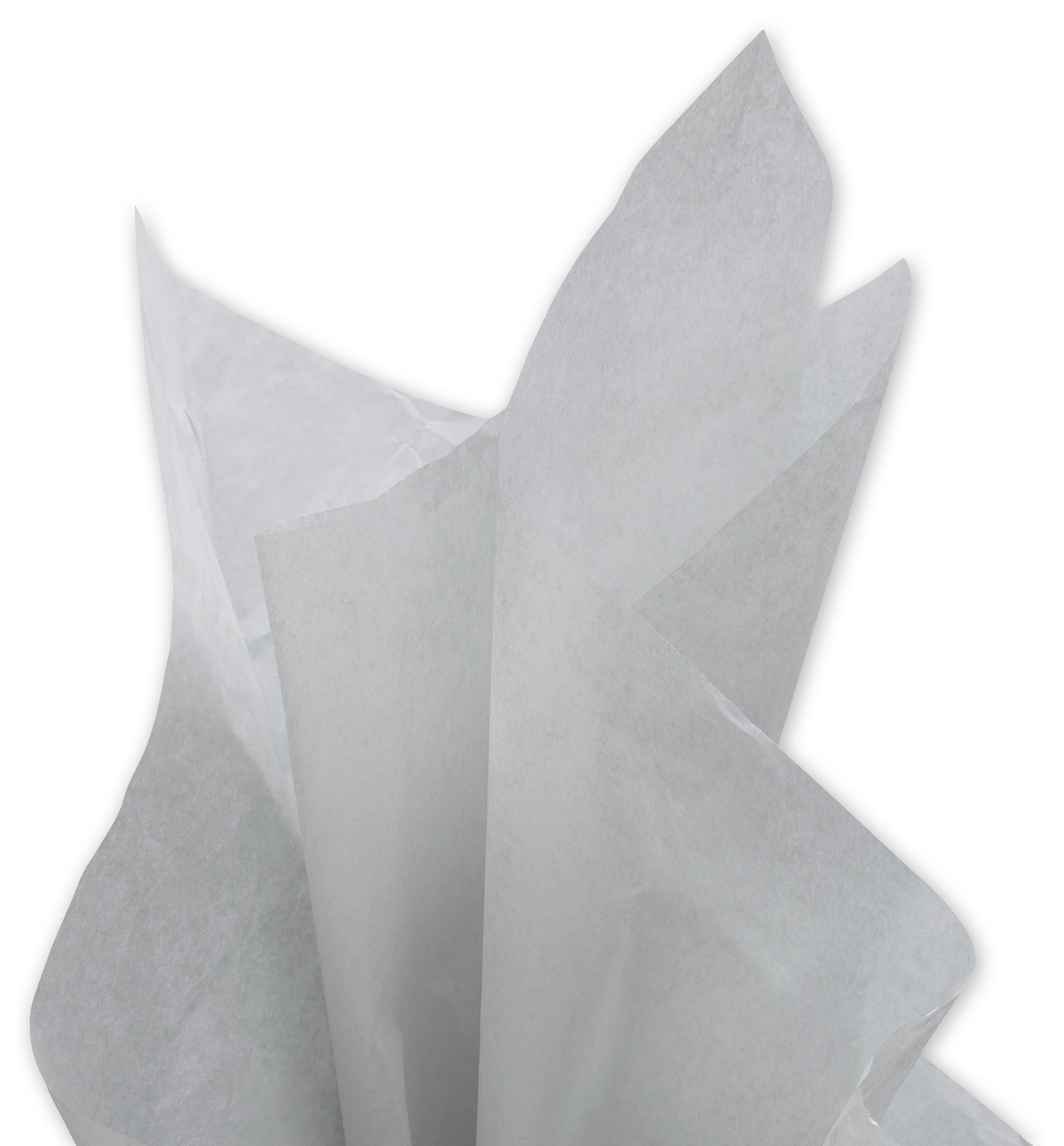 Grey Gray Bulk Tissue Paper 15 Inches x 20 Inches - 100 Sheets