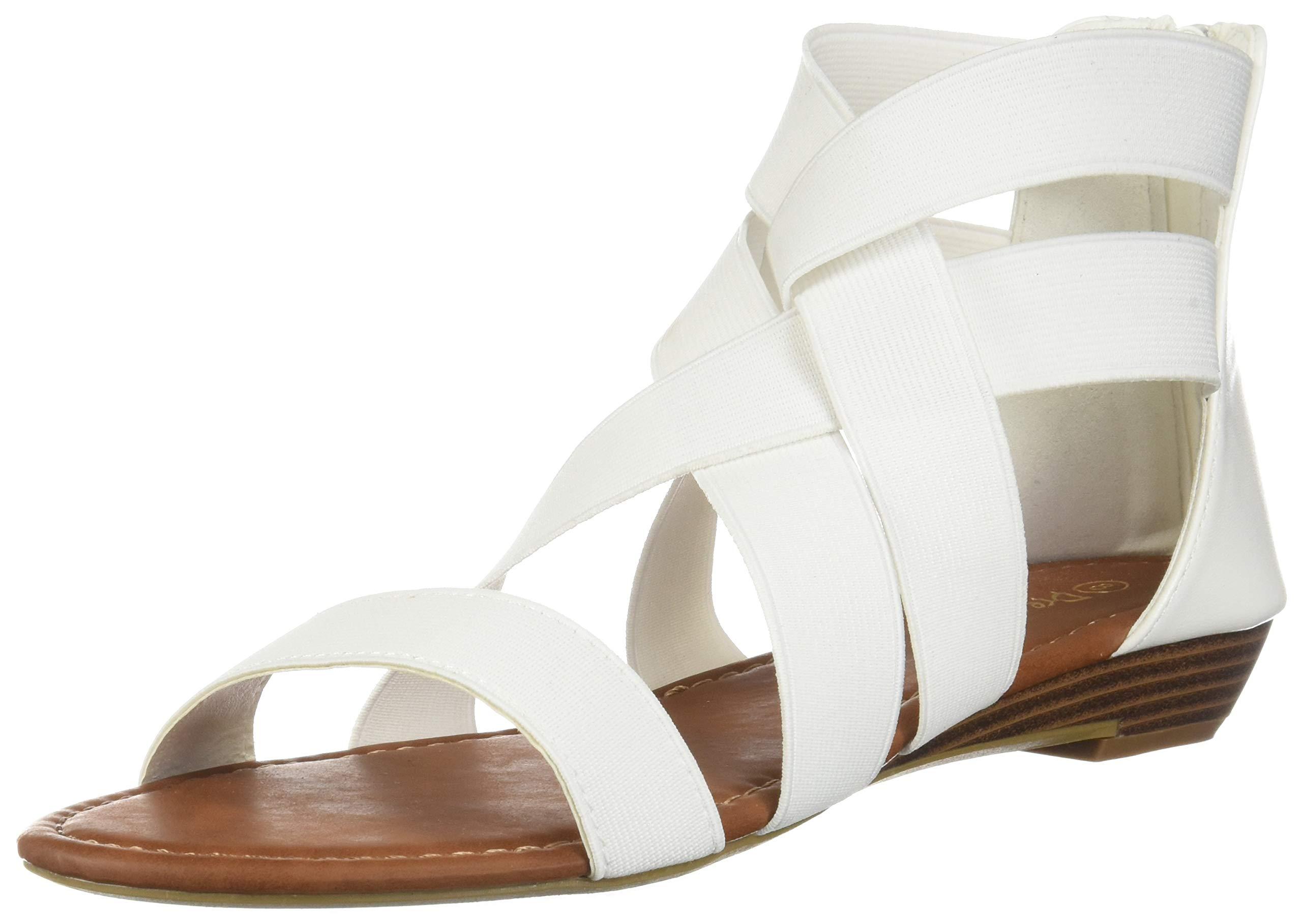 f42361bc8 DREAM PAIRS Women s Jewel Rhinestones Design Ankle High Flat Sandals