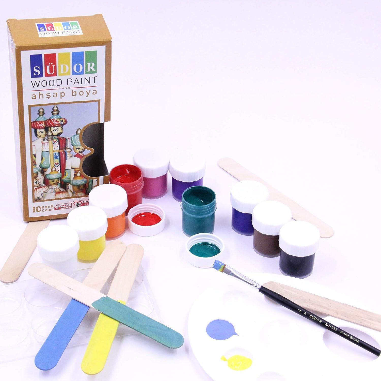 SÜDOR Zabawka drewniana - farby do malowania do zabawy z drewna