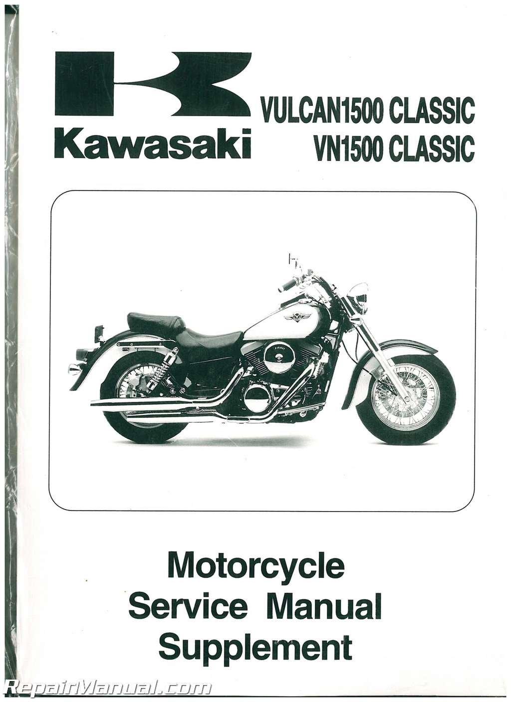 99924-1229-56 1998-2004 Kawasaki Vulcan Classic 1500 Motorcycle Service  Manual Supplement: Manufacturer: Amazon.com: Books