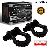 """AUTMATCH Shackles 3/4"""" D Ring Shackle (2 Pack) 41,887Ib Break Strength with 7/8"""" Screw Pin and Shackle Isolator…"""