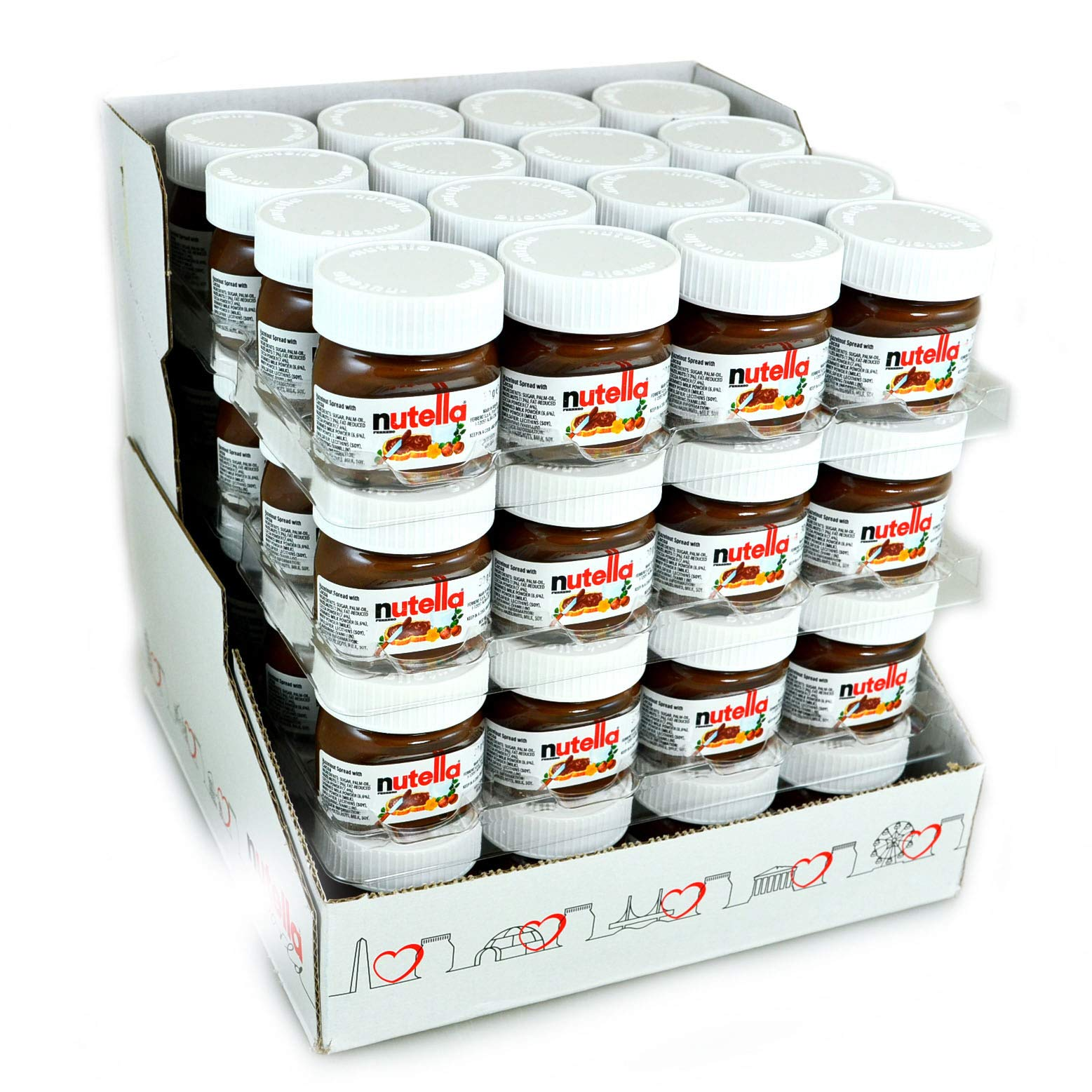 Nutella 25g mini jar - pack of 64