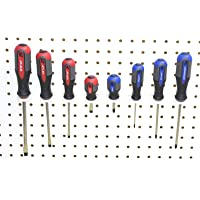 White Peg board Multi-Purpose Wall Tool Organizer Holder Garage Pegboard 50 pack