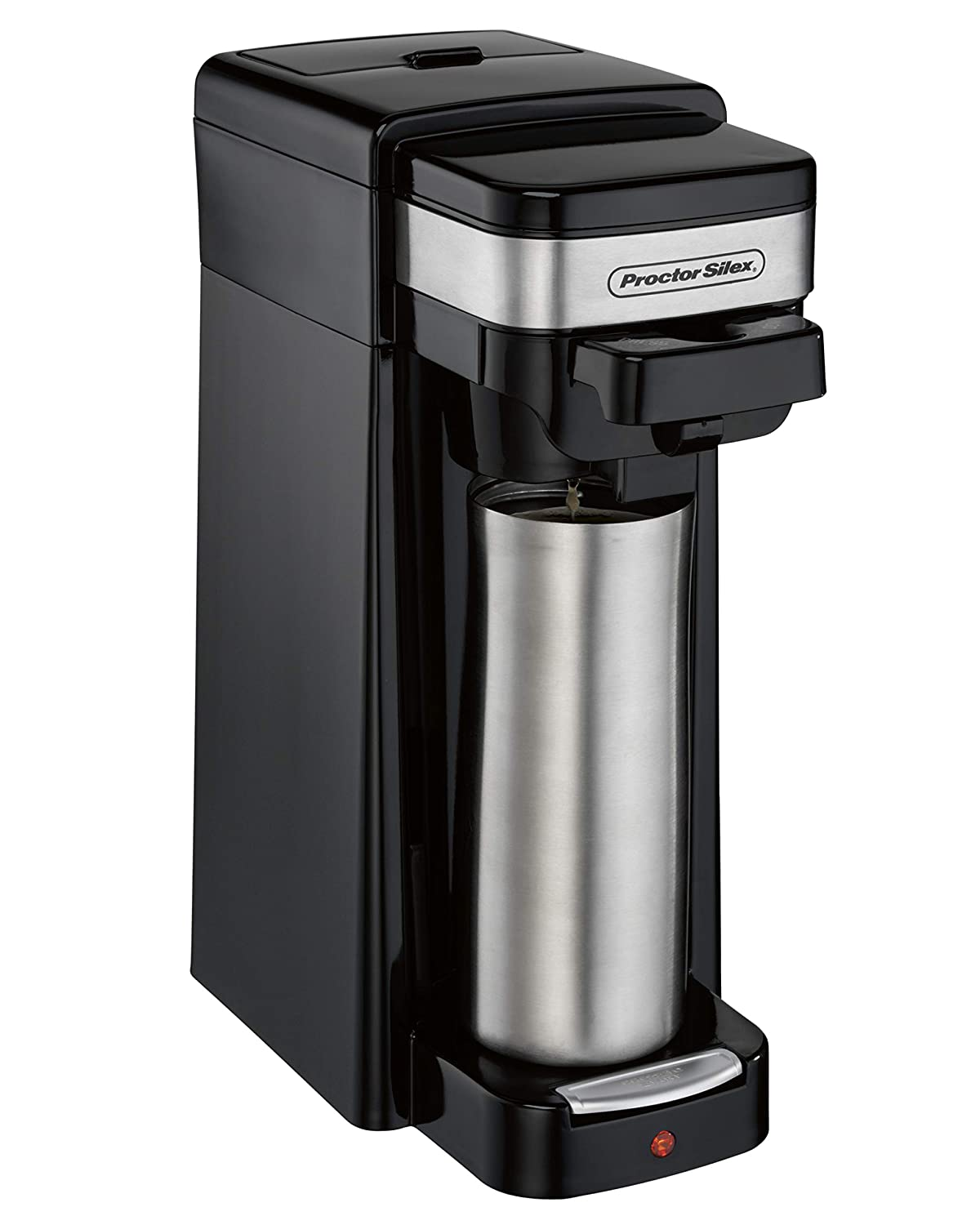 Hamilton Beach 49969 Single-Serve Coffee Maker for Grounds and Pod Packs and Fits a Travel Mug