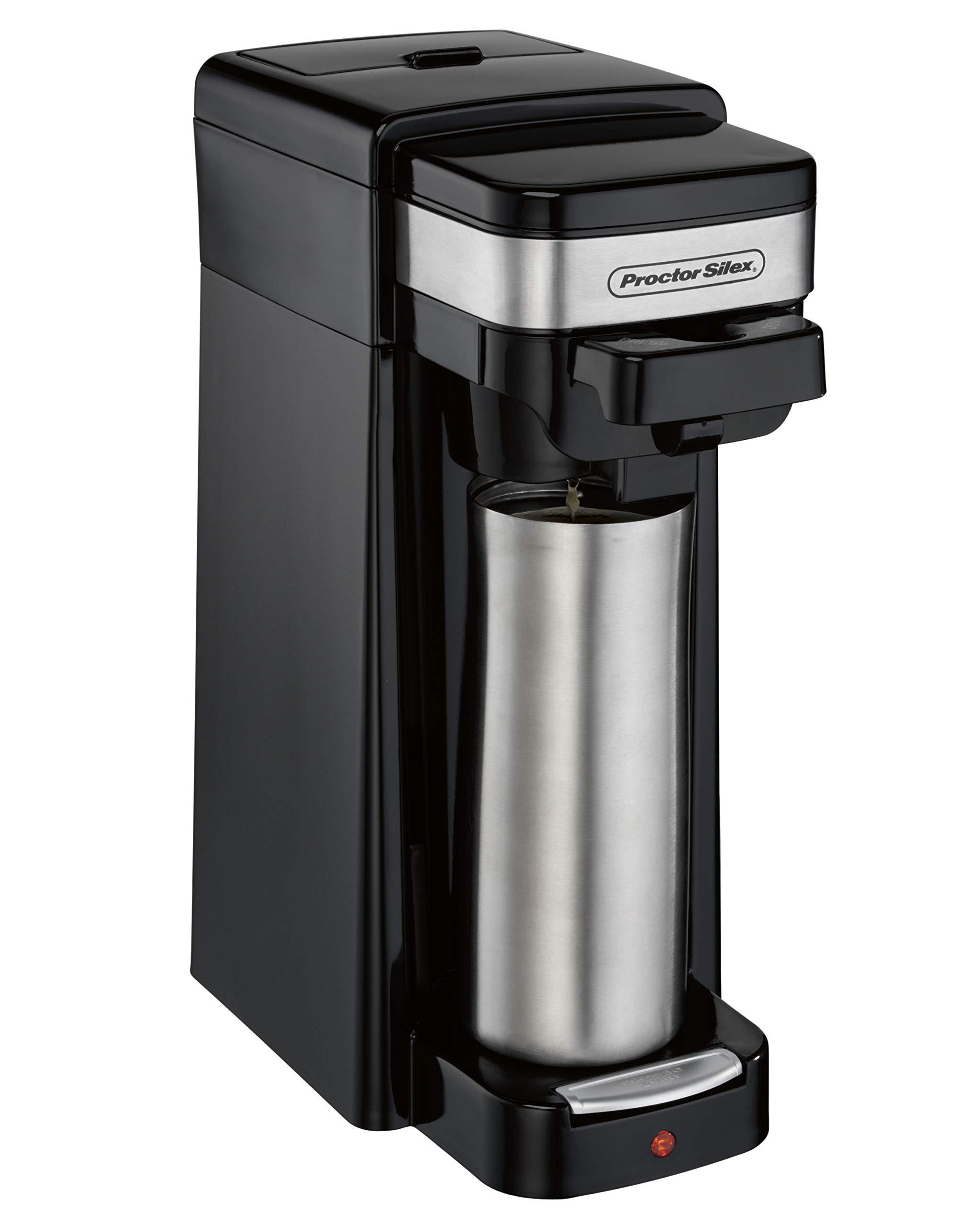 Hamilton Beach 49969 Single-Serve Coffee Maker, Use with Grounds and Pod Packs, Fits a Travel Mug by Hamilton Beach