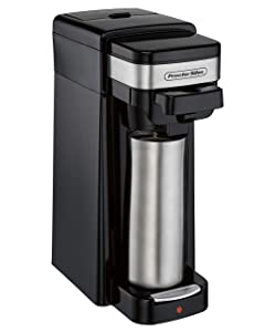 Hamilton Beach 49969 Single-Serve Coffee Maker for Grounds and Pod Packs and Fits a Travel Mug