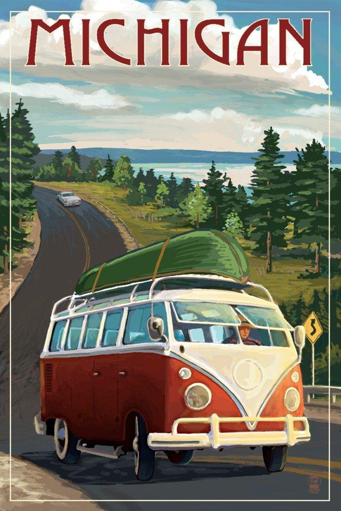 ミシガン州 24 – VW Vanと湖 Print x Canvas Tote Bag LANT-68988-TT B01B5O3IVW 24 x 36 Giclee Print 24 x 36 Giclee Print, 創寿苑:e89ba8fd --- itxassou.fr