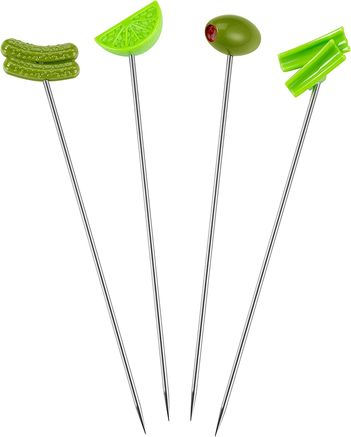 Prodyne Bloody Mary Cocktail Skewer, Set of 4, Green