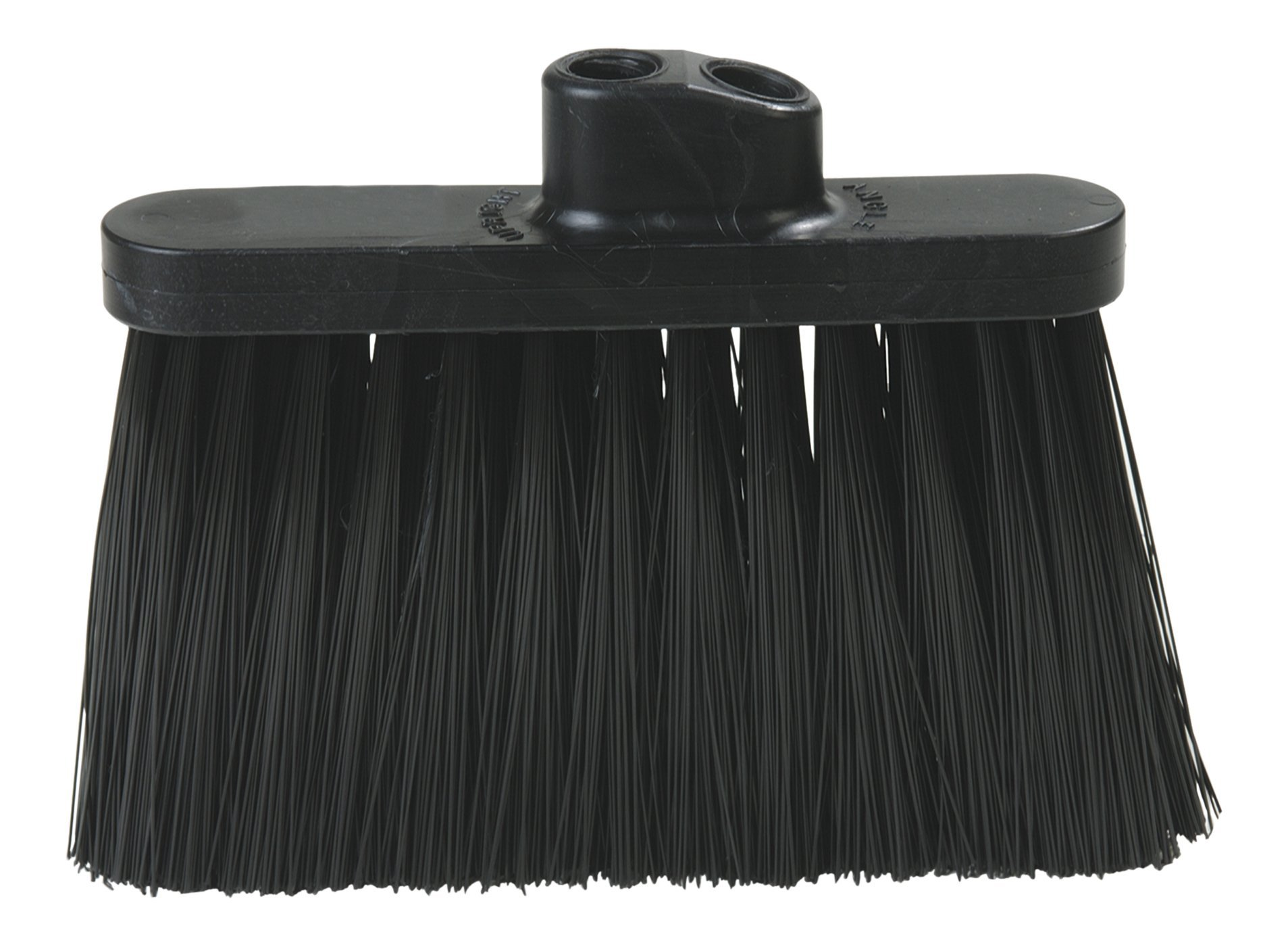 Carlisle 3687403 Flo-Pac Duo-Sweep Warehouse Broom Head, Black Plastic Block, 7''-Long Black Synthetic Bristles, 13'' W x 9'' H Overall (Pack of 12) by Carlisle