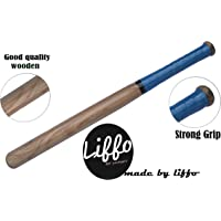 Liffo Wooden Baseball bat Heavy Duty for Men Women Younger (Handal Color May Very As Per Stock)