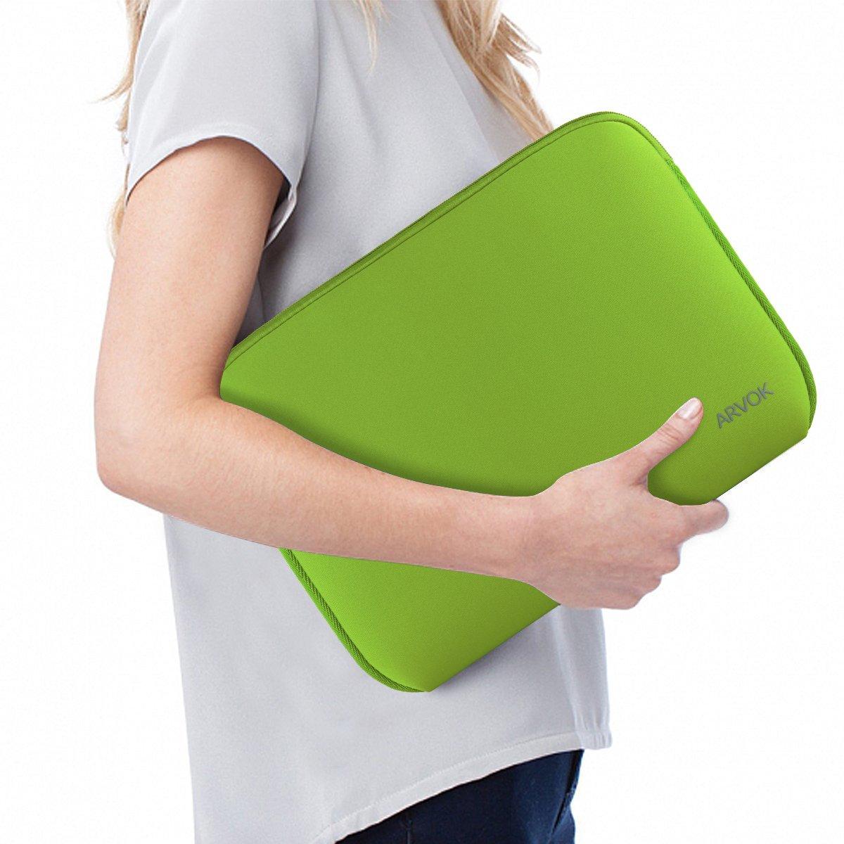 Verde Claro Arvok 15,6 Pulgadas Funda Protectora para Port/átiles//Impermeable Ordenador Port/átil Caso//Neopreno del Port/átil Bolsa para Acer//ASUS//DELL//Fujitsu//Lenovo//HP//Samsung//Sony
