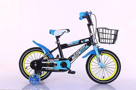 Bicicleta de los niños con las ruedas de entrenamiento y el regalo ...
