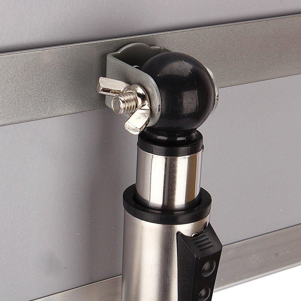 A4 Soporte de Men/ús con Altura Ajustable Yosoo A3 // A4 Soporte para Carteles Soporte de Informaci/ón de Acero Inoxidable