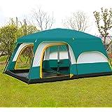 テント おしゃれ 8-12人用 2ルーム 大型 テント 撥水加工 防水 紫外線防止 通気性 登山 アウトドア キャンプ用品