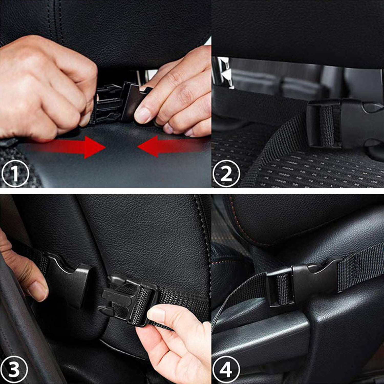 2 Packs Ergocar Auto-Organisatoren R/ücksitz-Schutz-Abdeckung Kick-Matte Auto-R/ücksitz mit 10 IPad Halter Multi Taschen