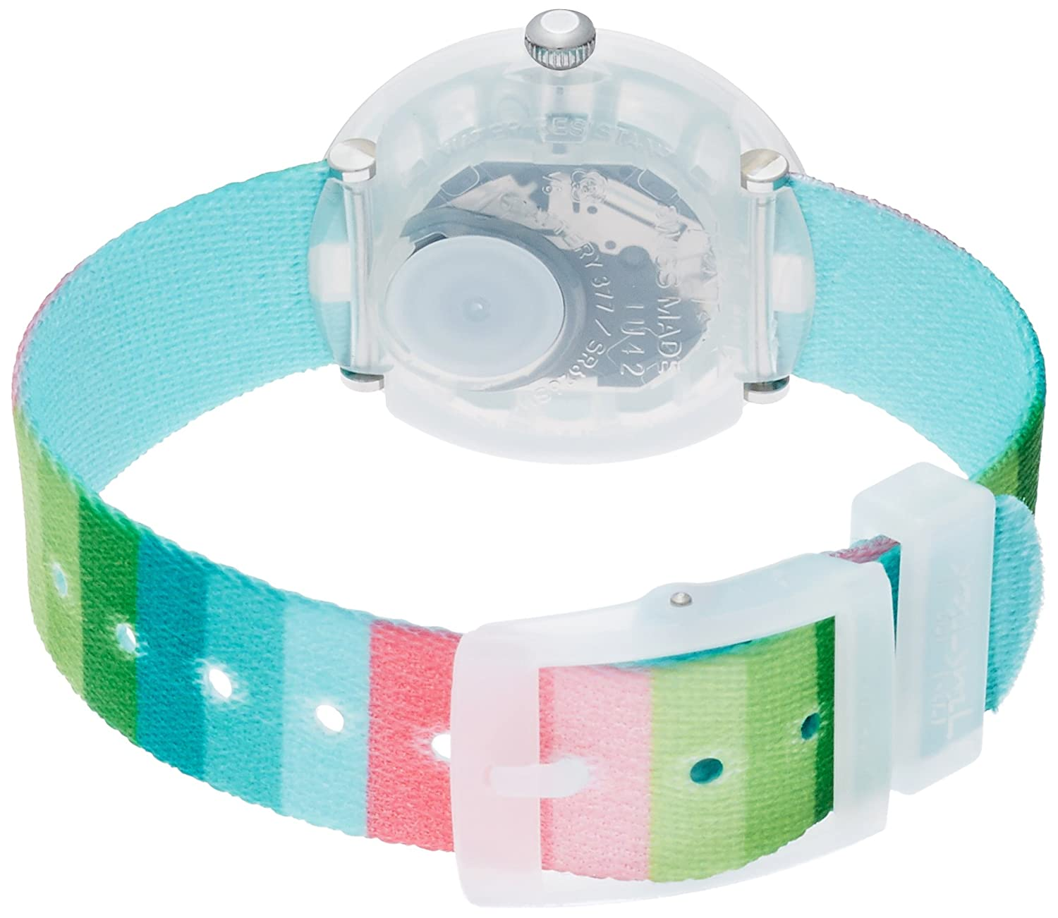 Amazon.com: Flik Flak Power Time Stripy Dreams Green Blue Pink Kids Watch FPNP014: Watches
