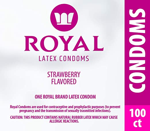 Royal Strawberry Flavored and Scented Condoms