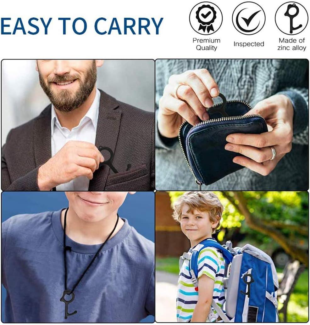 Evitando G/érmenes Trabajando En Pantallas T/áctiles y Almohadillas De Firma 3Pack herramienta clave de salud para abrir y cerrar puerta Abridor de puerta sin contacto