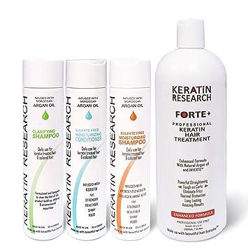 Keratina Forte Brasilera kit de 4 botellas por 1000ml, Tratamiento Que Alisa El Cabello Ahora