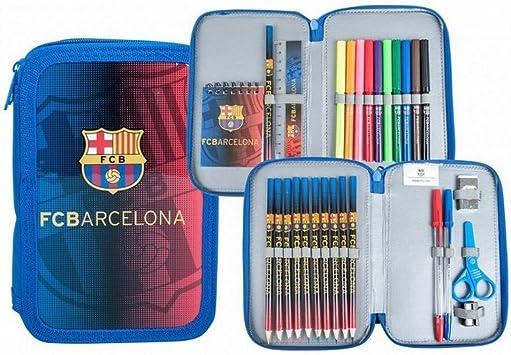 Export.CM FC Barcelona-Estuche para 2 bolígrafos, Multicolor (CASA Y MENAJE 2015 S.L 097216): Amazon.es: Juguetes y juegos