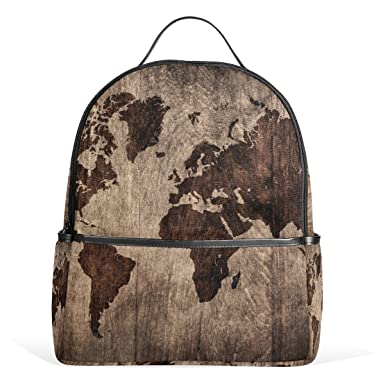 Amazon jstel vintage world map school backpack 2th 3th 4th jstel vintage world map school backpack 2th 3th 4th grade for boys teen girls kids publicscrutiny Images