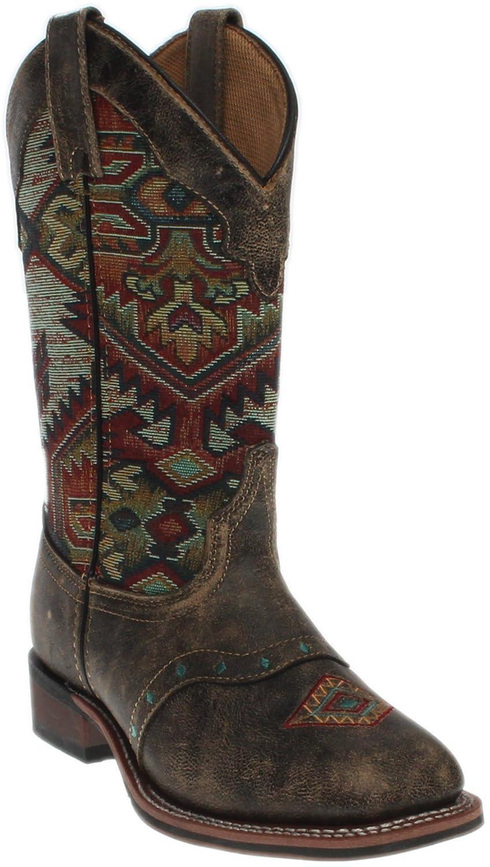 Laredo Women's Scout Tan Aztec Square Toe Boot 5638 B01FG70PLU 11 B(M) US|Brown